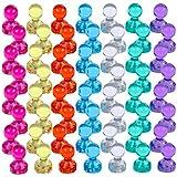 Lictin 56 Stücke Farbige Bunte Transparente Magnete, Whiteboard Magnete, Tafelmagnete für Whiteboard, Kühlschränke, 7 Farben