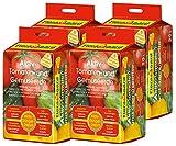 Floragard 4 x Aktiv-Tomaten-und Gemüseerde 20 Liter Blumenerde, erdfarben, 80 Liter