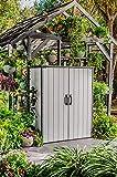 Ondis24 Keter Gartenschrank Premier, XXL Geräteschuppen, Geräteschrank Tall Cabinet Schuppen, Gartenbox regensicher