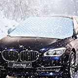 IREGRO Frontscheibenabdeckung, Auto Sonnenschutz für Frontscheibe, Scheibenabdeckung Auto Abdeckung für Windschutzscheibe gegen UV-Strahlung, Sonne, Staub, Schnee, EIS, Frost