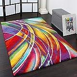 Paco Home Teppich Modern Designer Teppich Bunter Farbmix Gemustert Mehrfarbig, Grösse:80x150 cm
