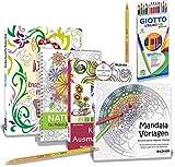 Mein Malset - 4 Malbücher mit 12 hochwertigen Duo-Farbstiften (Kreativ)