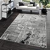 Teppich Steinboden Marmor Optik Design Modern Wohnzimmerteppich Grau Top Preis, Größe:190x280 cm