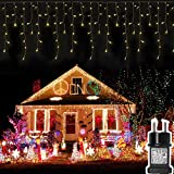 400 LED 20.8M Lichterkette Eisregen Außen, Opard Lichtervorhang Eiszapfen mit Steckdose, 8 Modi IP44 Wasserdicht für Party, Hochzeit, Feier, Geburtstag, Terrasse, Außen Dekoration