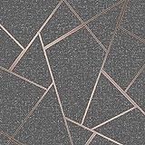 Fine Décor fd42283Quarz Fractal Tapete, Kupfer