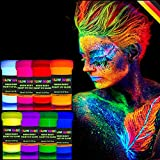 individuall UV Bodypainting Farbset   Schwarzlicht Schminke & Körperfarben   8 x 20 ml Leuchtfarben von Glow Magic