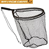 Savage Gear Pro Finezze Rubber Mesh Net L 46x56cm Floating - Kescher zum Spinnfischen & Fliegenfischen, Hechtkescher, Watkescher