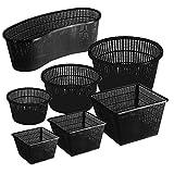 Pflanzkorb Set Pflanzhilfe Wasserpflanzen verschiedene größen Sets ideal für Fertigteiche Gartenteiche unf Fischteiche - 5er - 45 x 18 x 15 cm bogenförmig