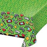 Neu: Tischdecke * Game ON * für Kindergeburtstag und Motto-Party | LAN Gaming Zocker Zocken Spielen Konsole Pixel Mottoparty Kinder Geburtstag Tisch Decke Deko Dekoration Table Cover