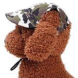 YooGer Haustier-Hundehut-Baseballmütze, Sommer-windundurchlässige Reise-Sport-Sun-Segeltuch-Haustier-Hundeim Freienzubehör, Camouflage-S