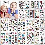 Kindertattoos, MOOKLIN Monster Tattoos Set Wasserdicht Aufkleber Flash Kleine Bögen Temporäre Tattoos Sticker für Jugendliche Mädchen Jungen Kinder Kindergeburtstag (Über 300 Tattoos) (A)