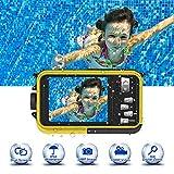 Unterwasserkamera Unterwasser Kamera 24.0MP 1080P 3,0 Meter Kamera Wasserdicht Makroaufnahme Vollständig versiegelte Digitalkamera 2,7 Zoll LCD Doppelbildschirm