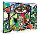 Picanova – Doodle Parrot 100x75cm – Premium Leinwanddruck – Kunstdruck Auf 2cm Holz-Keilrahmen Für Schlaf- Und Wohnzimmer