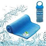 YQXCC Kühlende Handtücher Eishandtuch 120 x 30 cm Gym Mikrofaser Handtuch für Damen oder Herren Eiskalte Handtücher für Yoga Gym Reisen Camping Golf Fußball & Outdoor Sport (Blau)