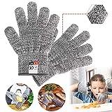 Schnittfeste Handschuhe Kinder, Handschuhe für Küche Metzger, Leistungsfähiger Level 5 Schutz, Schnittschutz-Handschuhe küche, Schnittfeste Arbeitshandschuhe, Küchenhandschuhe Schnittfest - XXS