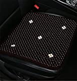 DIELIAN Holzkugel-Sitzauflage, Naturholz Perlen Cover Pad Autositz Comfy Cool Sommer Massage Sitzkissen (Platz),Brown