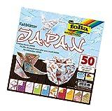 folia 492/2020 - Faltblätter Japan, 20 x 20 cm, 80 g/qm, 50 Blatt sortiert in 10 Motiven - ideal für wunderschöne Faltfiguren und -formen