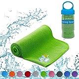 YQXCC Kühlende Handtücher Eishandtuch 120 x 30 cm Gym Mikrofaser Handtuch für Damen oder Herren Eiskalte Handtücher für Yoga Gym Reisen Camping Golf Fußball & Outdoor Sport (Grün)