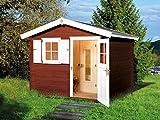 Weka Premium Mikkeli mit Elementsauna, 106.2525.00.39 Saunahaus, Natur Unbehandelt, 280x300x251 cm
