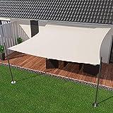 IBIZSAIL Sonnensegel wasserabweisend Sonnenschutz für Garten Balkon aus PES dreieckig-400 x 400 x 400 cm-Weiss(inkl. Spannseilen)