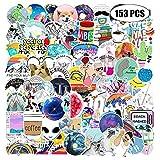 Pelwope 153 PCS Laptop Sticker, Stark klebrig Auto Aufkleber, Dekorative Sticker Kinder Aufkleber, Wasserdicht PVC Stickers für MacBook/Motorrad/Fahrrad/Skateboard/Snowboard/Gepäck