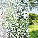 LEMON CLOUD 3D Folie Fenster Sichtschutz Folie Fenster Selbstklebend für Badezimmer Dekoration Und Schutz der Privatsphäre (90cmx400cm)