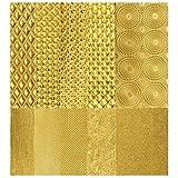 Struktur-Wachsplatten in Gold | Diverse Prägungen | ca. 20 x 10 cm | 10 Stück