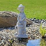 Wasserspeier Figur Bübchen Junge Speier Springrunnen für Teich Brunnen deko für Garten Teichfigur