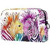 Make-up-Tasche, Kulturbeutel für Damen, Aquarellfarben, Schönheit, Pferd, Hautpflege, Kosmetik, praktische Tasche mit Reißverschluss