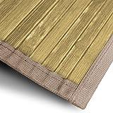 casa pura Bambusteppich Tibet (Natur) | für Bad und Wohnzimmer | natürlich wohnen Bambus | Bambusmatte in vielen Größen (90x120 cm)