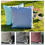 heimtexland ® Outdoorkissen Dekokissen Schmutz- und Wasserabweisend Outdoor Garten Kissen Lotus Effekt 45x45 Mint Typ676