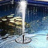 Samoleus Solar Brunnen Pumpe, 7V 1.4W 50CM Garten Springbrunnen Solar Wasserpumpe für Teich Garten 160L/H (Schwarz)