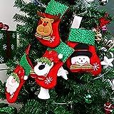 Daity Nikolausstiefel 4 Stück Kleine Weihnachtsstrümpfe 16 x 9cm Weihnachtssocken für Weihnachten deko