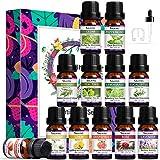 SALKING Ätherische Öle Set,12x10mL 100% Bio Aromatherapie Duftöl GeschenkSet für Diffuser,Lavendel,Rose,Jasmin,Teebaum,Eukalyptus,Zitronengras,Rosmarin,Pfefferminze,Zeder,Zitrone,Grapefruit,Erdbeere