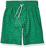 Amazon Essentials Jungen Badehose, Green Sharks, US M (EU 128 CM)