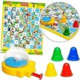 alles-meine.de GmbH großes - XL Spiel / Bodenspiel - Brettspiel - Leiterspiel / Schlangenspiel - 60 cm * 50 cm - Innen & Außen - Brettspiel - wasserfest - draußen Garten - Famili..