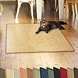 casa pura Sisalteppich Natural Line | ideal als Kratzmatte für Katzen | schadstofffrei & widerstandsfähig | Sisal Kratzteppich in vielen Farben und Größen (Natur, 100x100 cm)