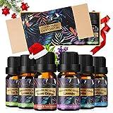 Ätherische Öle Set, Luckyfine Essential Oil für Aromatherapie Duftöl/Diffuser, 6X10 ml Natürliches & Sicheres Teebaum, Eukalyptus, Lavendel, Zitronengras, Süßorange, Minze
