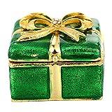 aoory Schmuckschatulle für Halsketten, einzigartiges Geschenk für Frauen, Grün