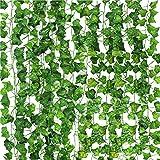 CDWERD 20 Stücke Künstliche Efeu Hängend Girlande Efeugirlande Künstlich Kunstpflanze Efeu Für Büro Hochzeitsfest Gartendekoration