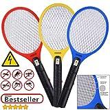 Deuba 3X Elektrische Fliegenklatsche Insektenvernichter   3er Set Insektenfalle Fliegenfänger   effizient & sicher