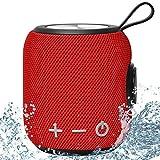 Tragbarer Wasserdichtes IPX7 Bluetooth Lautsprecher SANAG Bluetooth5.0 Speaker mit Deep Bass und Dualen Bass-Treibern,TWS Stereo Sound bloothooth Musikbox,12-Stunden Spielzeit (Rot)