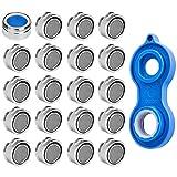 20 Stück Strahlregler M24 Luftsprudler für Wasserhahn, Mischdüse mit Edelstahl Filter, inkl. Mischdüsenschlüssel