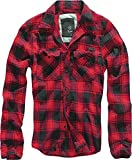 Brandit Check Shirt Herren Baumwoll Hemd M Red-black