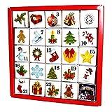 English Tea Shop - Tee Adventskalender 'Christmas Ornaments', 25 einzelne Boxen mit würzigen BIO-Tees in hochwertigen Pyramiden-Teebeutel