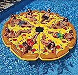 Aufblasbar Pizza Stück Salon Riese Pizza Schwimmbad Schwimmsitz Sommer Draussen Party Strand Floß Spielzeug für Kinder und Erwachsene,1Pc