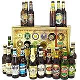 Bier Adventskalender Welt und Deutschland mit San Miguel + Saigon + Rothaus + mehr / Biersorten aus aller WELT & DEUTSCHLAND / Bieradventskalender 2019 - mit 24 Biersorten in FLASCHEN