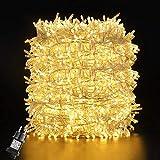 GlobaLink 50m 2000Leds LED Lichterkette Außen Weihnachtsbeleuchtung IP44 mit Stecker 8 Modi für innen und außen Hochzeit Party Garten Deko - Warmweiß [Energieklasse A++]