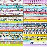 YXJDWEI 25Pcs Baumwollstoff 100% Baumwolle Patchwork Stoffe 30x30cm Quadrate Baumwolltuch Stoffpaket zum Nähen mit vielfältiges Muster