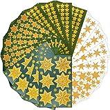 AVERY Zweckform Sticker Set Sterne 1.664 Aufkleber (Weihnachten, Weihnachtspost, DIY, selbstklebend, Glitzer, gold, Weihnachtsdeko, Basteln, Geschenke, Karten, verschiedene Größen, Made in Germany)